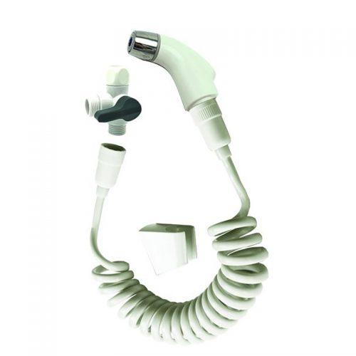 מערכת לשטיפה הגיינית ג'ט סט פלוס בצבע לבן